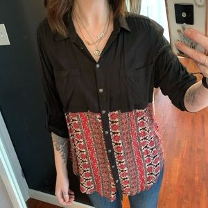 Free People floral blouse tunic